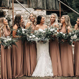 Simple 2020 Sleeveless A-Line Chiffon Bridesmaid Dresses, Comfortable Bridesmaid Dresses, VB02939