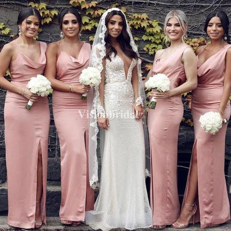 Alluring Comfortable Mermaid Side Slit Bridesmaid Dresses, VB03740