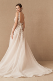 Charming Ivory Wedding Gown With Appliques, Wedding Dresses, VB02952