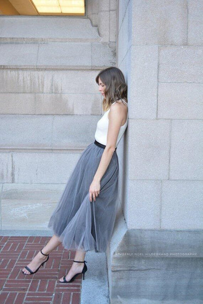 Gray Tulle Skirt Women Tulle Skirt Bridesmaid Dress Custom Tulle Skirt Wedding Skirt Handmade Skirt Tutu Skirts, TS001