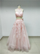 Blush Pink Halter Two Piece Prom Dreses_US4, SP003