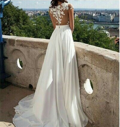 High Neck Off The Shoulder See Through Soft Satin Prom Dress, Charming Prom Dress, Prom Dresses, VB0361 - Visionbridal