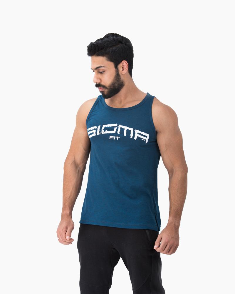 Baggy Tank (Metallic Blue)