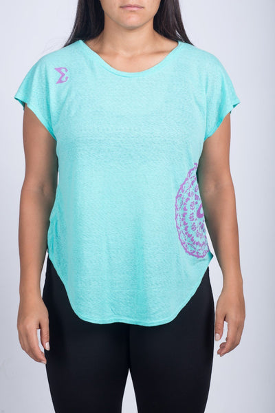 Round necked-shirt (Sky Blue) - Sigma Fit
