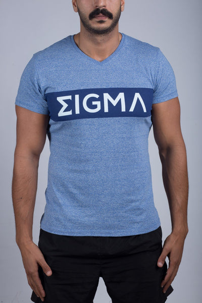 V-neck T-shirt (Sky Blue) - Sigma Fit