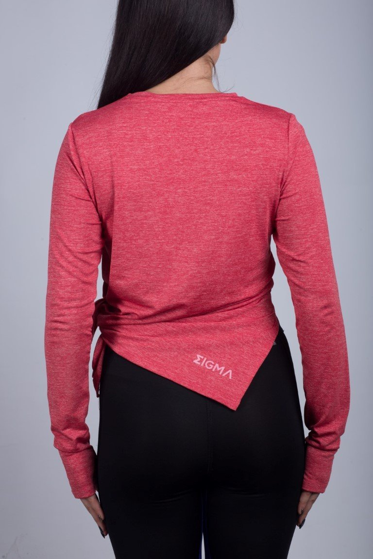 Long Sleeve Shirt (Salmon Pink) - Sigma Fit
