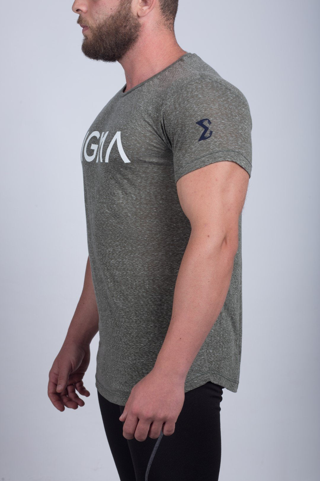 Round-neck T-shirt (Olive Green) - Sigma Fit
