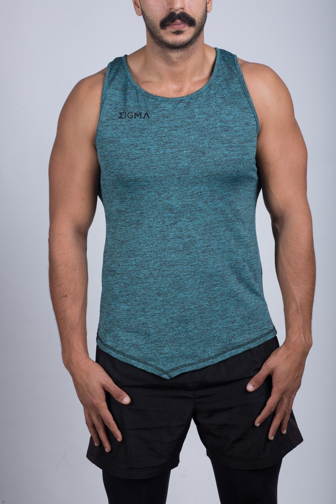 Muscle Shirt (Metallic Blue) - Sigma Fit