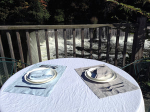 Pure Linen Placemat with Hemstitch Detail, Set of 4