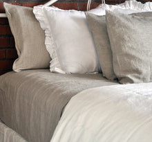 Pure Linen Sheet Set (4 PC) in Natural Linen Color with Hemstitch Details