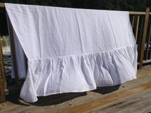 Pure Linen Shower Curtain with Pleated Bottom