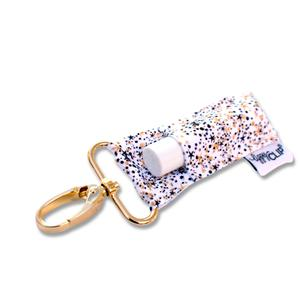 Black + Gold Confetti LippyClip