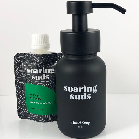 Foaming Liquid Hand Soap Set-Manic Melon