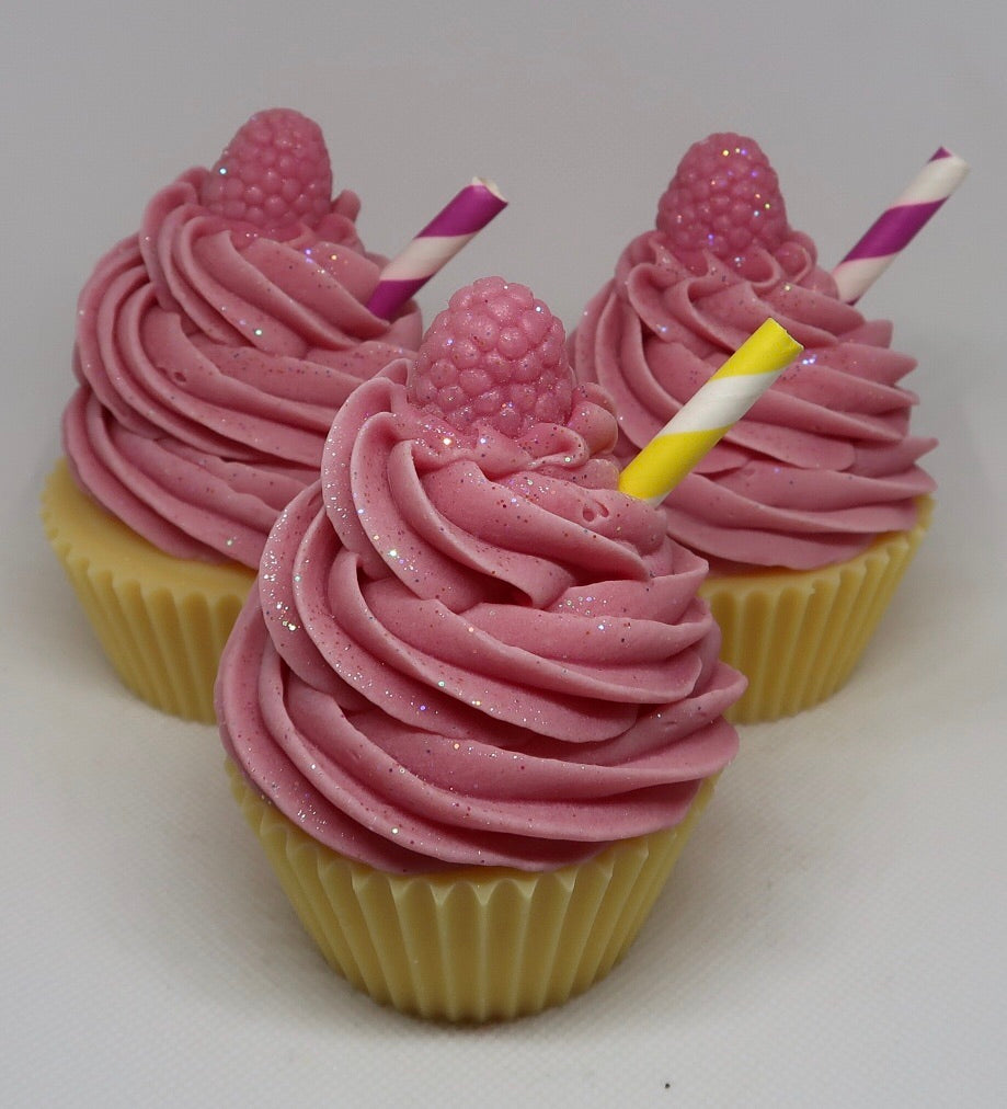 Raspberry Lemonade Cupcake Soap