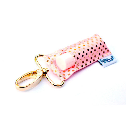 Light Pink Gold Dots LippyClip