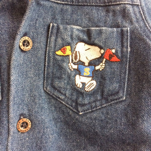 Vintage Kids Park Bench Snoopy & The Peanuts Gang Denim Jacket