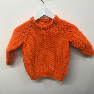 New Hand Knit 18-24 Month Orange
