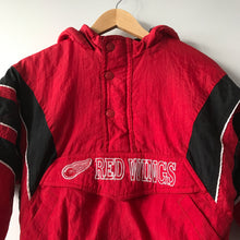 Vintage Starter Detroit Red Wings 1/2 Zip Pullover Jacket Youth Small