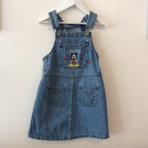Vintage Mickey & Co Denim Overall Dress 6-7 years