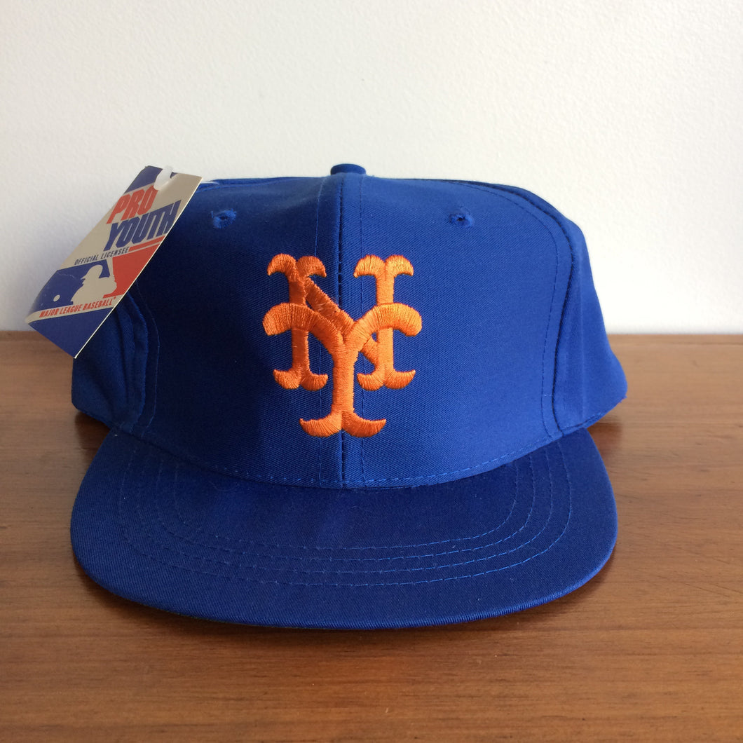 Vintage Deadstock ProYouth by Ed's West NY Mets SnapBack