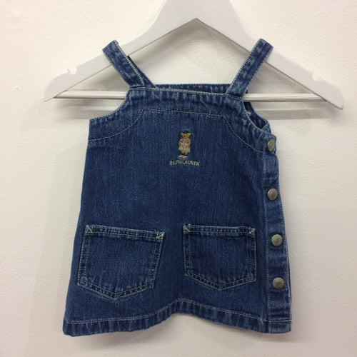 Vintage RL Bear Denim Dress 3-6 Months