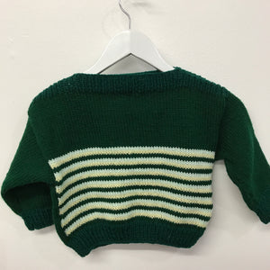 Toddler Hand Knit Greens