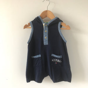 Vintage Tommy Hooded Onesie Shortalls 3-6 Months