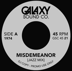 "Galaxy Sound Co 7"" Dionne Warwick ""Your Gonna Need Me""/ Misdemeanor (Jazz Edit)"