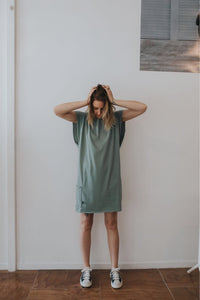 Fabrik8 Beach Box Dress Sage