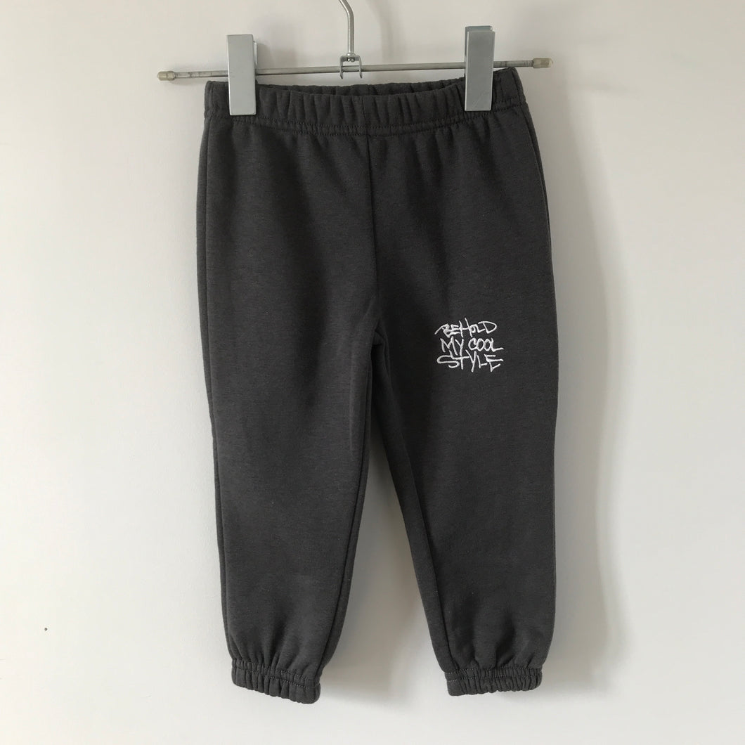 B.M.C.S EMB toddler track pants Charcoal