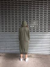 Hooded Olive Fisty Cuffs Sweater Dress Ready to Send
