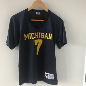Vintage Champion Michigan Wolverines Jersey 10-12 Years