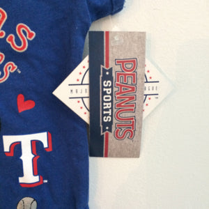 Deadstock NWT Snoopy X Texas Rangers Girls Tees