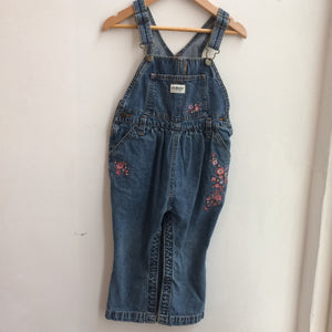 90's OshKosh bubble Denim Overalls 3 Years