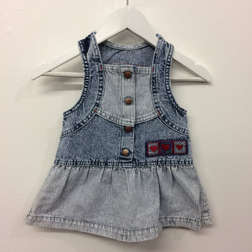 Vintage Levis Acid wash denim dress 18 Months