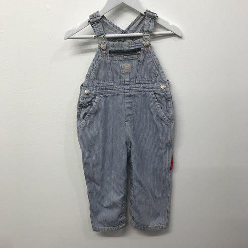 Rare Vintage Striped RL Polo Overalls 18-24 Months