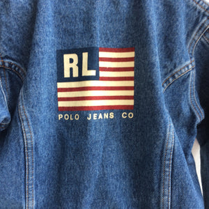Vintage RL Polo Denim Flag Jacket 4 Years