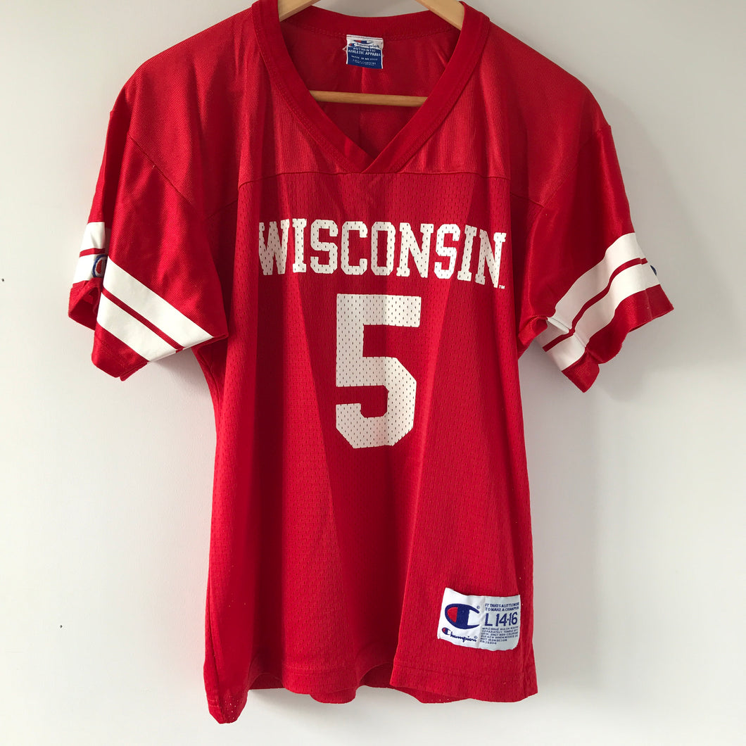 Vintage Champion Wisconsin Badgers Jersey Youth Large