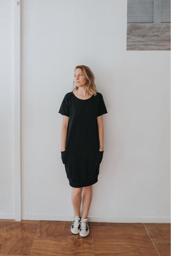 Fabrik8 Box Cuff Dress Black