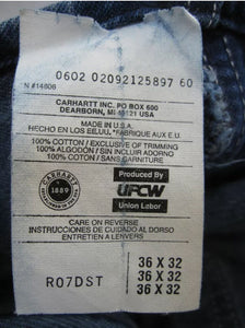 Vintage Union Made Carhartt Overalls 36 x 32