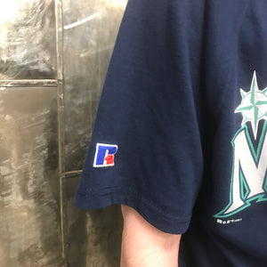 Vintage Seattle Mariners Russell Athletics Button Down XL