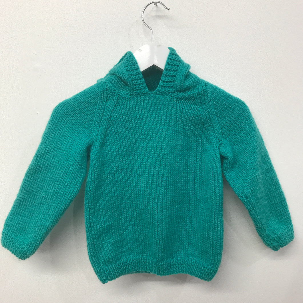 New Hooded Hand Knit aprox 2-3 years