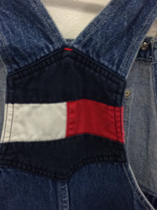 90's Tommy Denim Overalls Kids 8-10 Years