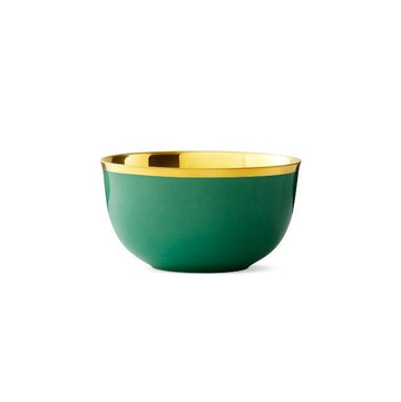 Champagne Bowl Emerald Green Gold