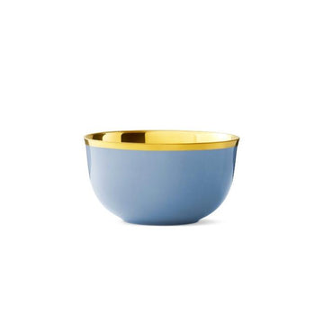 Champagne Bowl Light Blue Gold
