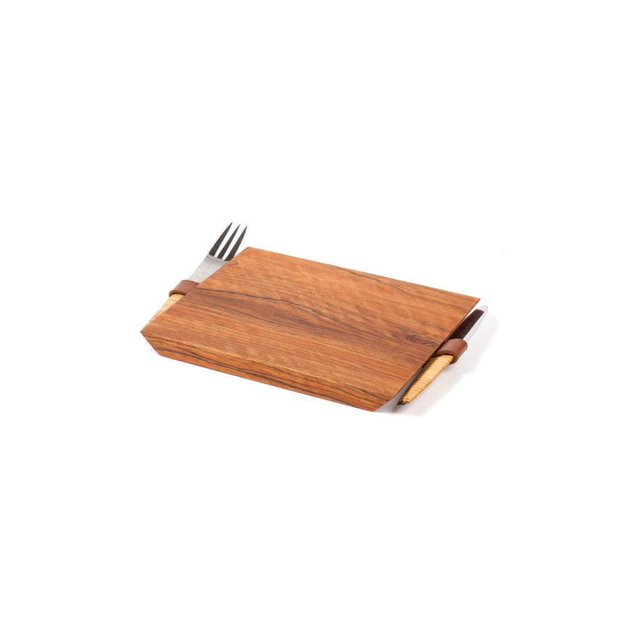 Walnut Board with Knife and Fork #4363A