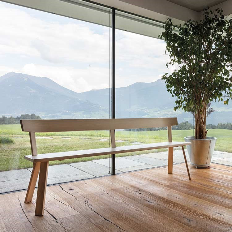 Alpin Bench with backrest