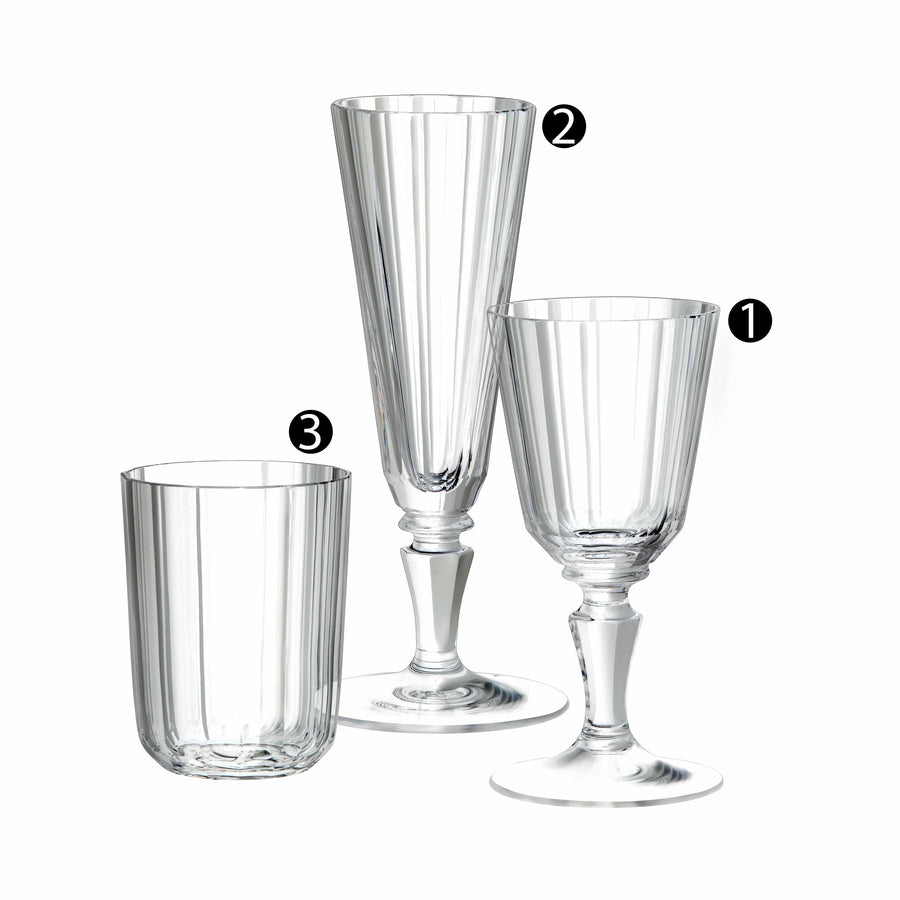 Drinking Set No. 98 - Palais with Simple Facette Cut