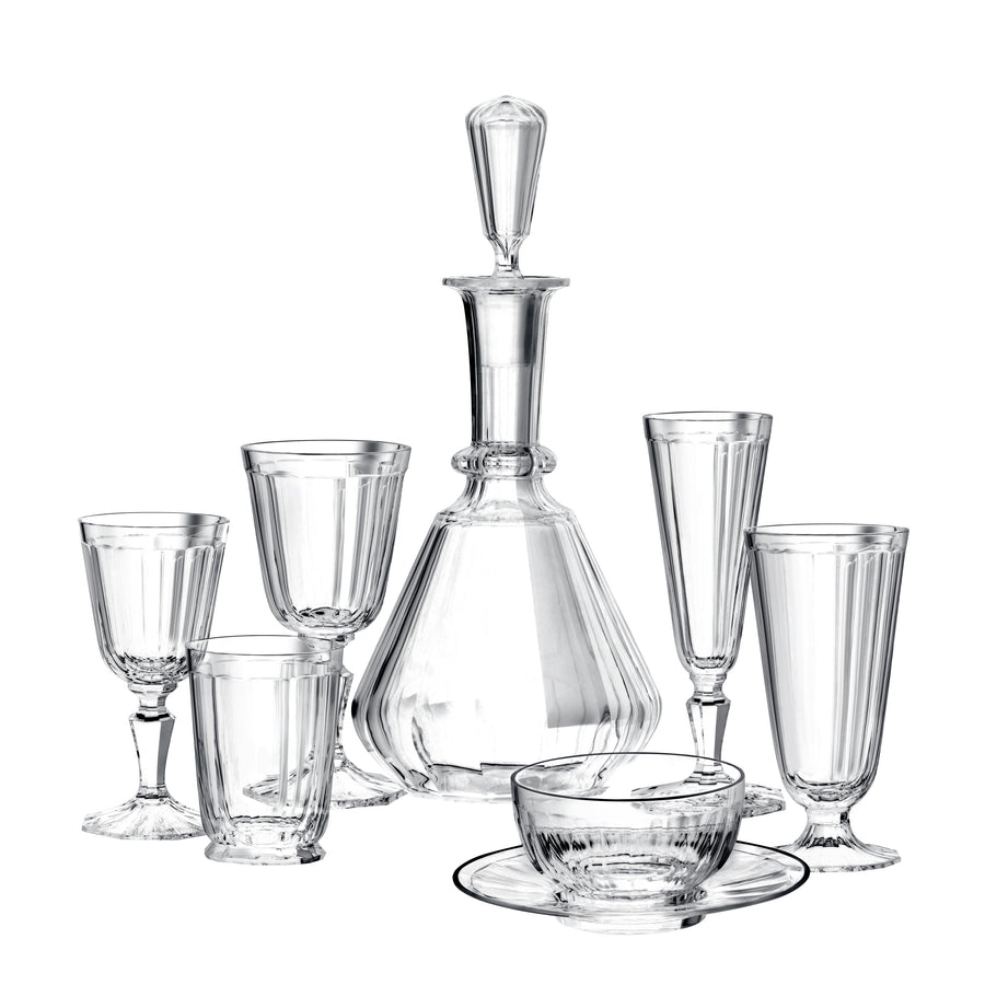 Drinking Set No. 98 - Palais with Facette Cut