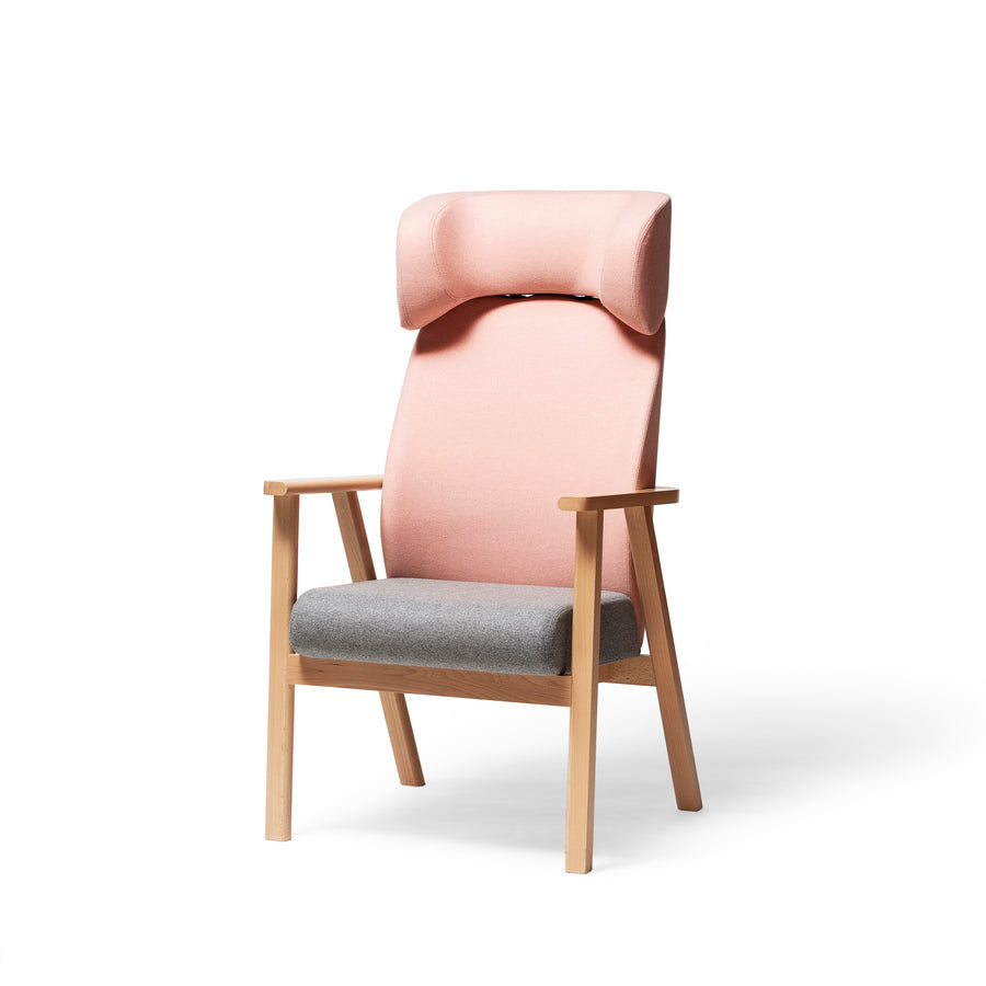 Santiago Lounge Armchair With Headrest